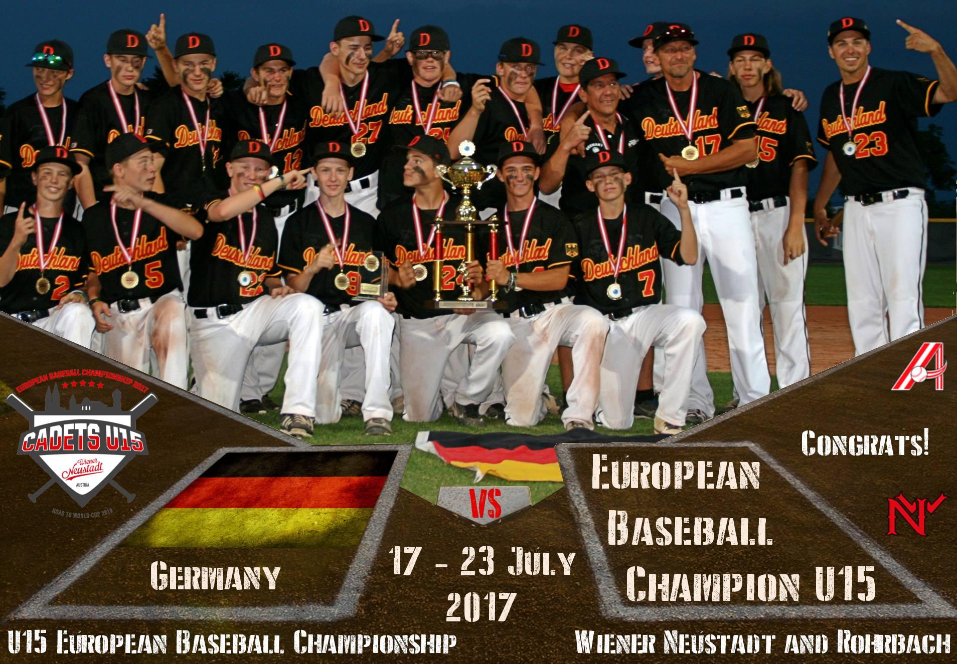 Germany wins the 2017 u15 european baseball championship ceb czech sciox Images